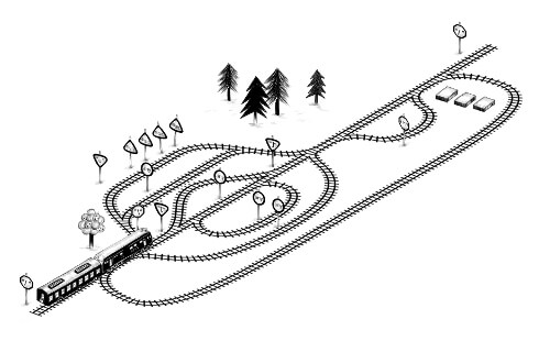 A railroad diagram